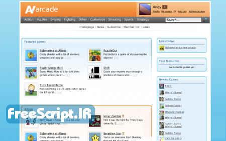 اسکریپت سایت بازی آنلاین AV Arcade Pro نسخه ۵٫۴٫۳