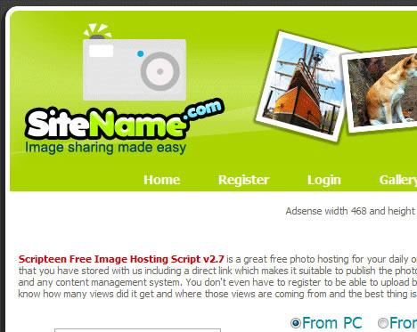 اسکریپت آپلود عکس Scripteen نسخه 2.7