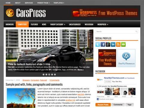 قالب وردپرس CarsPress مناسب سایت های اتومبیل