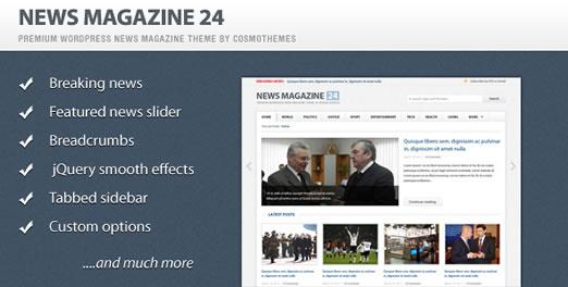 قالب مجله خبری وردپرس 24 نسخه 0.6