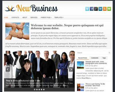 پوسته خبری NewBusiness وردپرس نسخه 1.0